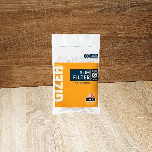 Gizeh Slim Aktivkohle Filter 6mm, 20x120 Filter