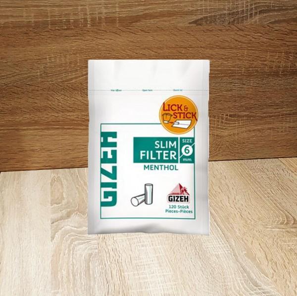 Gizeh Slim Menthol Filter 6mm, 10x120 Filter