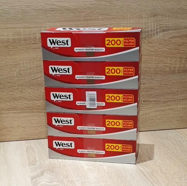 West Red Hülsen 5x200 Stück