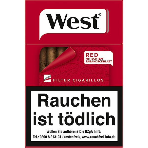 West Red Filter Cigarillos Stange