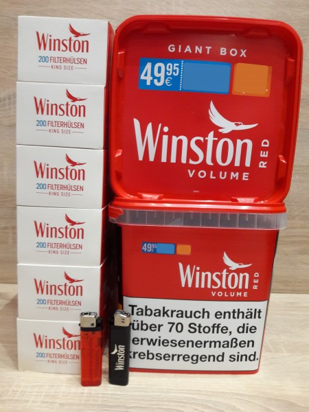 2x Winston Giga + 1200 Filterhülsen + 2 Feuerzeuge