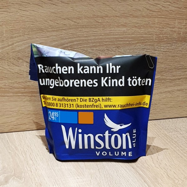 Winston Volume Tobacco Blue Beutel