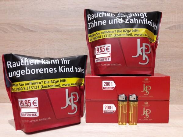 2x JPS Zip Bag+ 400 JPS Hülsen + 2 Feuerzeuge