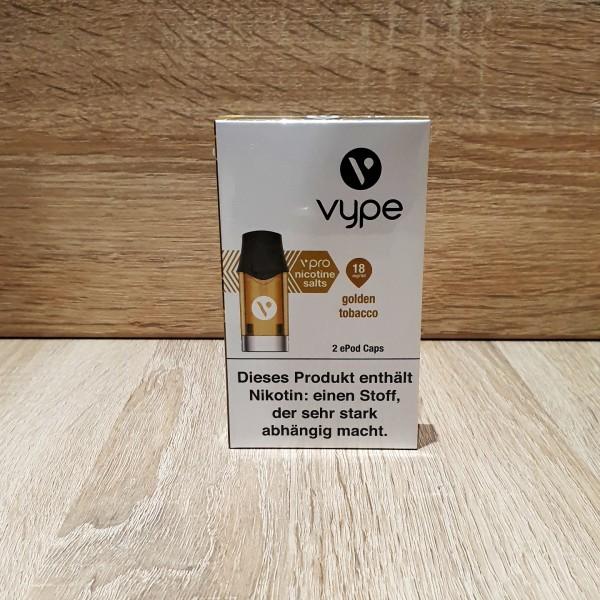 Vype ePod vPro Caps - Golden Tobacco 18mg
