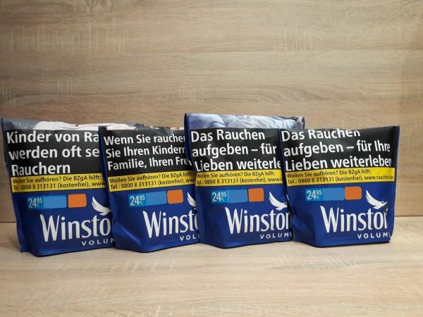 4x Winston Blue Volumentabak Zip Bag´s 135g
