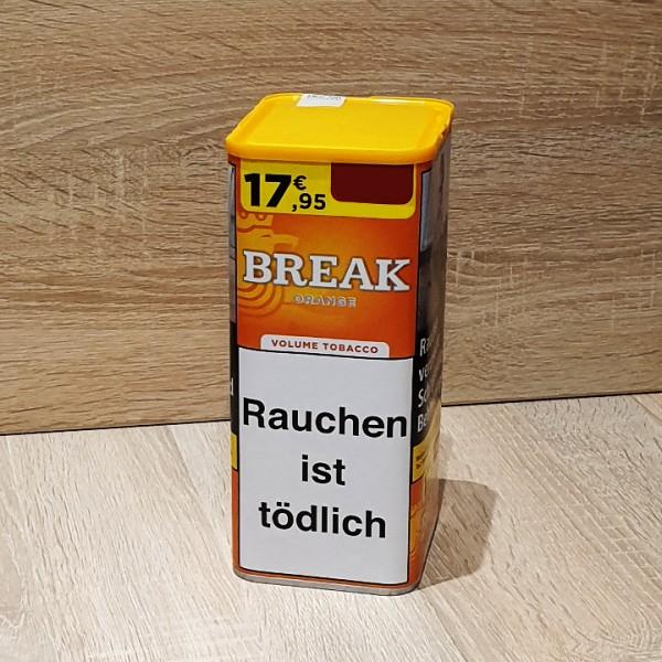 Break Orange Volumen Tabak Dose