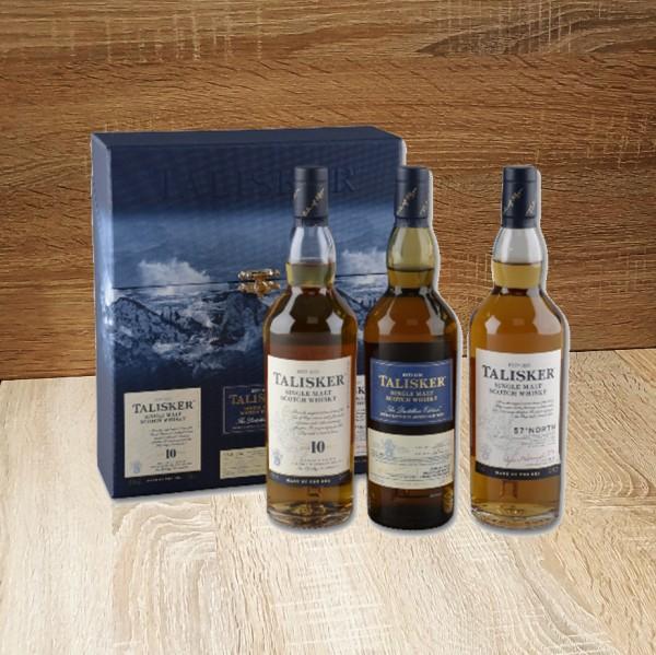TALISKER Gift Pack 10J/Distillers Edition/ 57 North 3x0,2l, 600ml