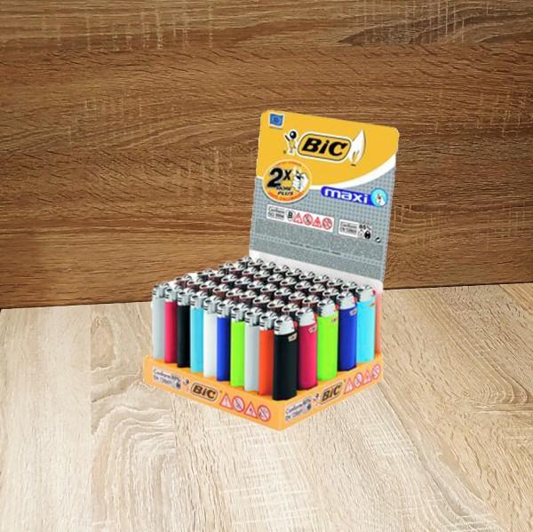 BIC Feuerzeug Reibrad Maxi, zufällige Farbe