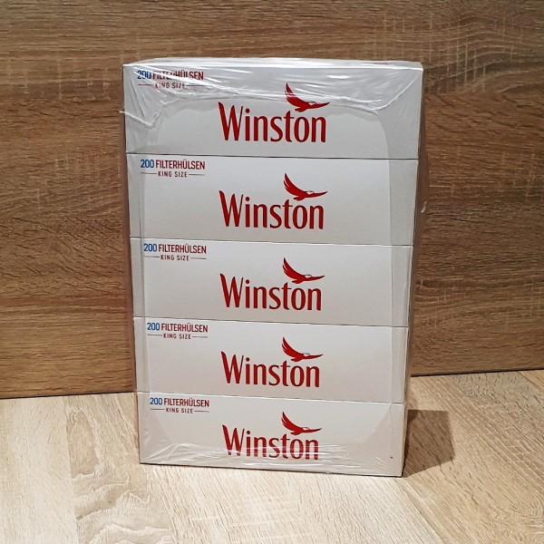Winston King Size Filterhülsen 5x200 Stück