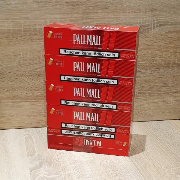 Pall Mall Red Xtra Hülsen 5x200 Stück