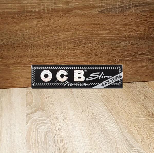 OCB Schwarz Premium Long Slim + Tips (32 Blättchen)
