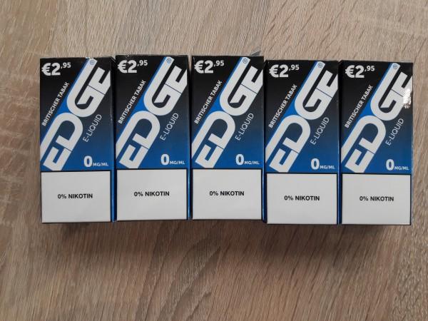EDGE Liquid Britischer Taback 5er 0mg Nikotin