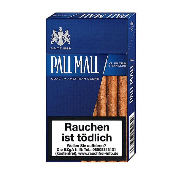 Pall Mall Blue XL Filter Cigarillos Stange