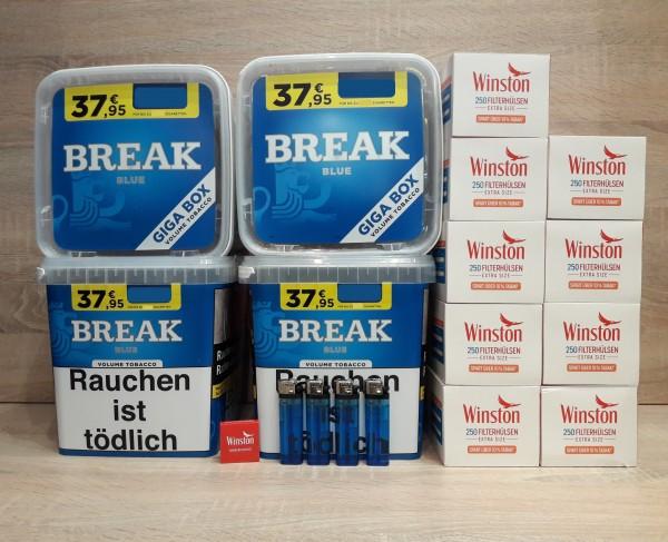 4x Break Blue Giga + 2250 EXTRA Hülsen + Zubehör
